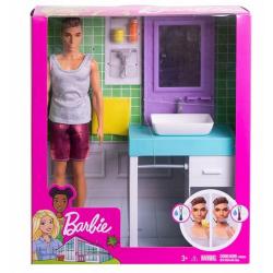 Mattel Barbie Ken Lazienka...